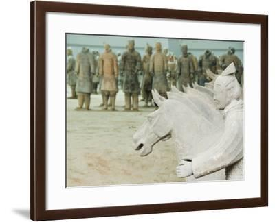 Museum of the Terracotta Warriors Opened in 1979 Near Xian City, Shaanxi Province, China-Kober Christian-Framed Photographic Print