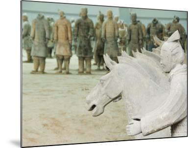 Museum of the Terracotta Warriors Opened in 1979 Near Xian City, Shaanxi Province, China-Kober Christian-Mounted Photographic Print