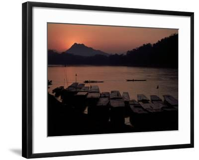 Sunset over the Mekong River, Luang Prabang, Laos, Indochina, Southeast Asia-Mcconnell Andrew-Framed Premium Photographic Print
