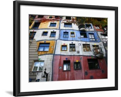 Hundertwasser House, Vienna, Austria, Europe-Levy Yadid-Framed Photographic Print