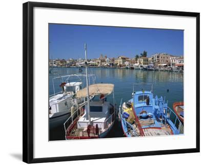Fishing Boats Moored in Harbour, Aegina Town, Aegina, Saronic Islands, Greek Islands, Greece-Lightfoot Jeremy-Framed Photographic Print