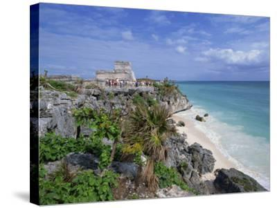 Mayan Ruins of Tulum, Yucatan Peninsula, Mexico, North America-Miller John-Stretched Canvas Print