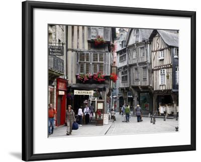 Half Timbered Houses in the Old Town of Dinan, Brittany, France, Europe-Levy Yadid-Framed Photographic Print