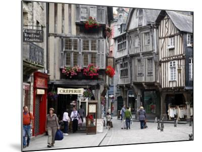 Half Timbered Houses in the Old Town of Dinan, Brittany, France, Europe-Levy Yadid-Mounted Photographic Print