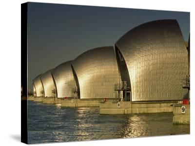 Thames Flood Barrier, Woolwich, Near Greenwich, London, England, United Kingdom, Europe-Miller John-Stretched Canvas Print