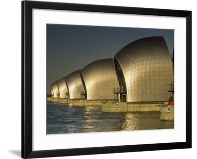 Thames Flood Barrier, Woolwich, Near Greenwich, London, England, United Kingdom, Europe-Miller John-Framed Photographic Print