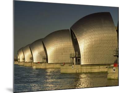 Thames Flood Barrier, Woolwich, Near Greenwich, London, England, United Kingdom, Europe-Miller John-Mounted Photographic Print