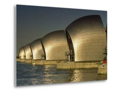 Thames Flood Barrier, Woolwich, Near Greenwich, London, England, United Kingdom, Europe-Miller John-Metal Print