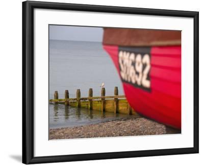 Fishing Boat, Worthing Beach, West Sussex, England, United Kingdom, Europe-Miller John-Framed Photographic Print