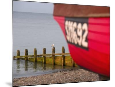 Fishing Boat, Worthing Beach, West Sussex, England, United Kingdom, Europe-Miller John-Mounted Photographic Print