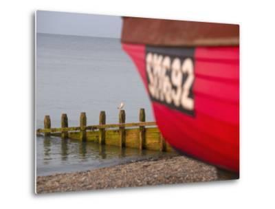 Fishing Boat, Worthing Beach, West Sussex, England, United Kingdom, Europe-Miller John-Metal Print
