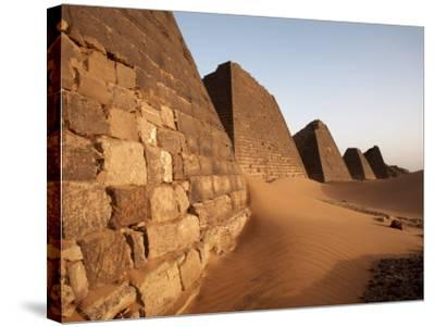 Pyramids of Meroe, Sudan's Most Popular Tourist Attraction, Bagrawiyah, Sudan, Africa-Mcconnell Andrew-Stretched Canvas Print