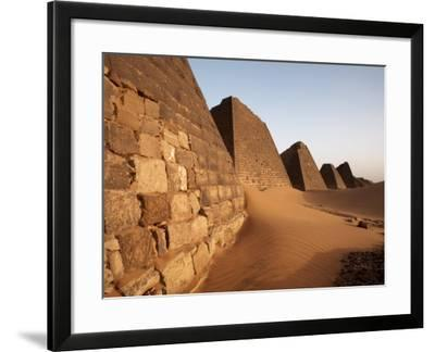 Pyramids of Meroe, Sudan's Most Popular Tourist Attraction, Bagrawiyah, Sudan, Africa-Mcconnell Andrew-Framed Photographic Print