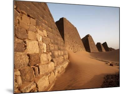 Pyramids of Meroe, Sudan's Most Popular Tourist Attraction, Bagrawiyah, Sudan, Africa-Mcconnell Andrew-Mounted Photographic Print