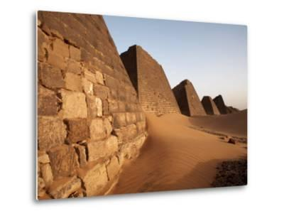 Pyramids of Meroe, Sudan's Most Popular Tourist Attraction, Bagrawiyah, Sudan, Africa-Mcconnell Andrew-Metal Print