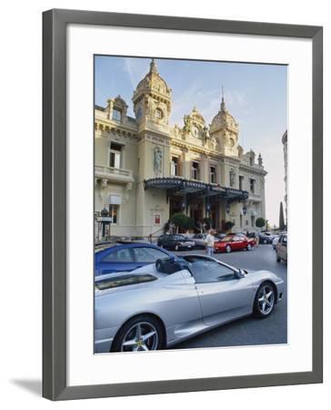 Casino and Ferrari, Monte Carlo, Monaco, Europe-Miller John-Framed Photographic Print