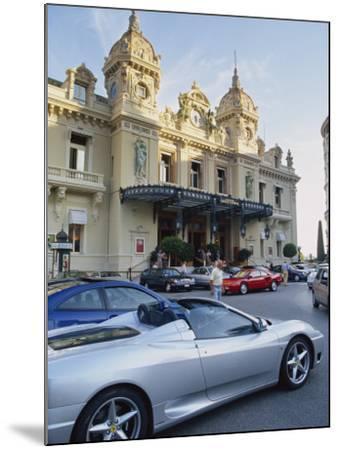 Casino and Ferrari, Monte Carlo, Monaco, Europe-Miller John-Mounted Photographic Print