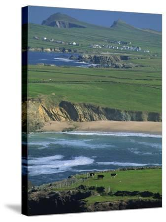 Aerial View over the Dingle Peninsula, County Kerry, Munster, Republic of Ireland, Europe-Maxwell Duncan-Stretched Canvas Print