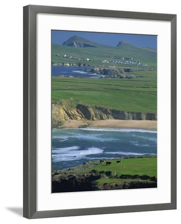 Aerial View over the Dingle Peninsula, County Kerry, Munster, Republic of Ireland, Europe-Maxwell Duncan-Framed Photographic Print