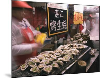Street Market Selling Oysters in Wanfujing Shopping Street, Beijing, China-Kober Christian-Mounted Photographic Print
