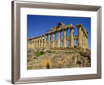 Ruins of the Greek Temples at Selinunte on the Island of Sicily, Italy, Europe-Newton Michael-Framed Photographic Print