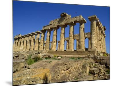 Ruins of the Greek Temples at Selinunte on the Island of Sicily, Italy, Europe-Newton Michael-Mounted Photographic Print