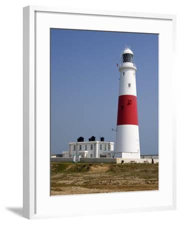 Portland Bill Lighthouse, Isle of Portland, Weymouth, Dorset, England, United Kingdom, Europe-Rainford Roy-Framed Photographic Print
