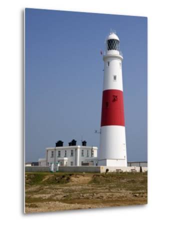Portland Bill Lighthouse, Isle of Portland, Weymouth, Dorset, England, United Kingdom, Europe-Rainford Roy-Metal Print