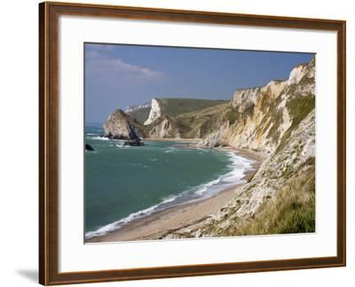 St. Oswald's Bay Beach and Cliffs, Dorset, England, United Kingdom, Europe-Rainford Roy-Framed Photographic Print