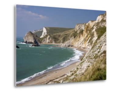 St. Oswald's Bay Beach and Cliffs, Dorset, England, United Kingdom, Europe-Rainford Roy-Metal Print