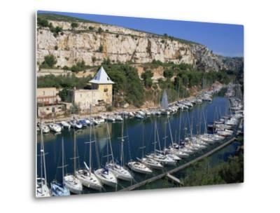 Boats Moored in Harbour, Port Miou, Calanques De Cassis, Bouches Du Rhone, France-Morandi Bruno-Metal Print