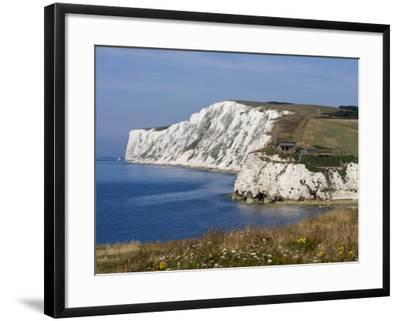 Tennyson Down, Black Rock and Highdown Cliffs from Freshwater Bay, Isle of Wight, England, UK-Rainford Roy-Framed Photographic Print