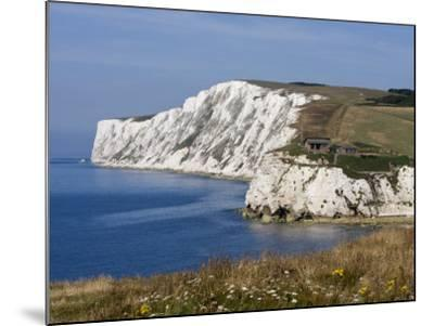 Tennyson Down, Black Rock and Highdown Cliffs from Freshwater Bay, Isle of Wight, England, UK-Rainford Roy-Mounted Photographic Print