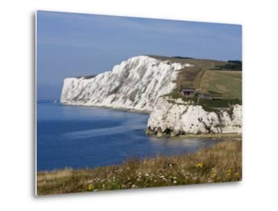 Tennyson Down, Black Rock and Highdown Cliffs from Freshwater Bay, Isle of Wight, England, UK-Rainford Roy-Metal Print