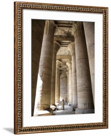 Temple of Edfu, Egypt, North Africa, Africa-Olivieri Oliviero-Framed Photographic Print
