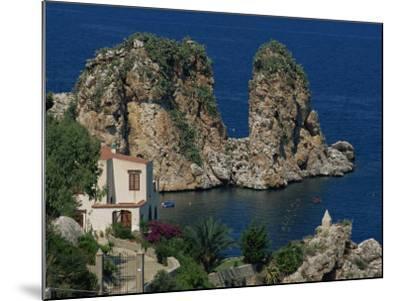 Rocks Towering in Golfo Di Castellammare, Slopello, Sicily, Italy, Europe-Pottage Julian-Mounted Photographic Print
