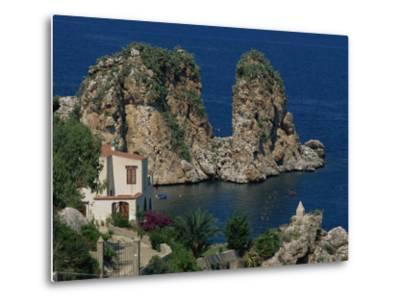 Rocks Towering in Golfo Di Castellammare, Slopello, Sicily, Italy, Europe-Pottage Julian-Metal Print