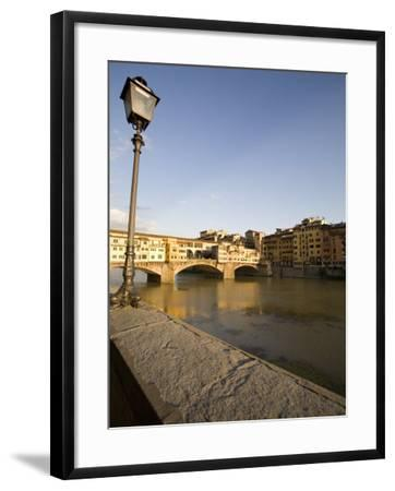 Along the Arno River and the Ponte Vecchio, Florence, Tuscany, Italy, Europe-Olivieri Oliviero-Framed Photographic Print