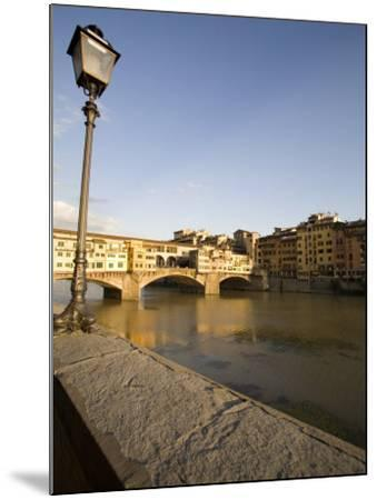 Along the Arno River and the Ponte Vecchio, Florence, Tuscany, Italy, Europe-Olivieri Oliviero-Mounted Photographic Print