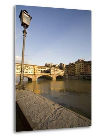 Along the Arno River and the Ponte Vecchio, Florence, Tuscany, Italy, Europe-Olivieri Oliviero-Metal Print