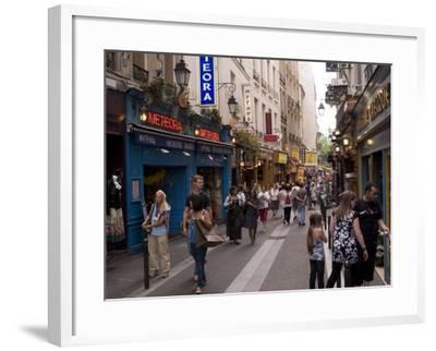 Rue De La Huchette, Quartier Latin, Paris, France, Europe-Pitamitz Sergio-Framed Photographic Print