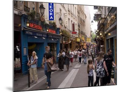 Rue De La Huchette, Quartier Latin, Paris, France, Europe-Pitamitz Sergio-Mounted Photographic Print