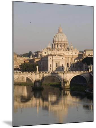 St. Peters Dome and the Tiber River, Rome, Lazio, Italy, Europe-Olivieri Oliviero-Mounted Photographic Print
