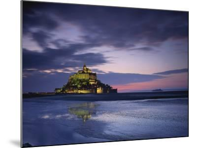 Mont St. Michel, Illuminated at Dusk, La Manche Region, Basse-Normandie, France-Rainford Roy-Mounted Photographic Print