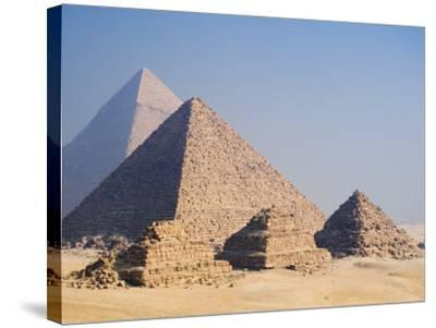 Pyramids of Giza, Giza, UNESCO World Heritage Site, Near Cairo, Egypt, North Africa, Africa-Schlenker Jochen-Stretched Canvas Print