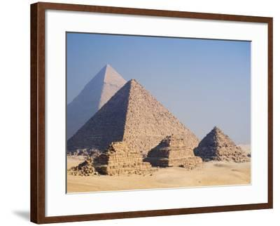 Pyramids of Giza, Giza, UNESCO World Heritage Site, Near Cairo, Egypt, North Africa, Africa-Schlenker Jochen-Framed Photographic Print