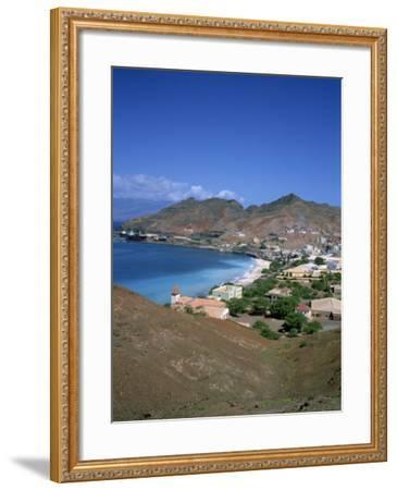 Bay and Town of Mondelo on Sao Vicente Island, Cape Verde Islands, Atlantic Ocean, Africa-Renner Geoff-Framed Photographic Print