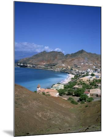 Bay and Town of Mondelo on Sao Vicente Island, Cape Verde Islands, Atlantic Ocean, Africa-Renner Geoff-Mounted Photographic Print