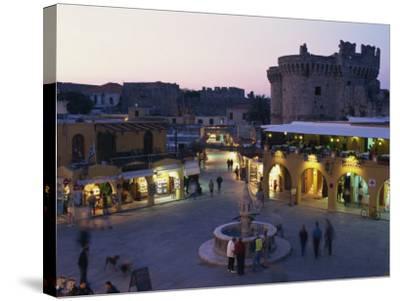 Hypocratus Square, Rhodes Town, Rhodes, Dodecanese, Greek Islands, Greece, Europe-Simanor Eitan-Stretched Canvas Print