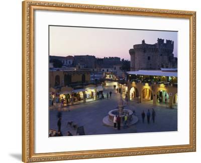 Hypocratus Square, Rhodes Town, Rhodes, Dodecanese, Greek Islands, Greece, Europe-Simanor Eitan-Framed Photographic Print
